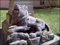 Image for Lev pod pamatnikem / Lion by memorial of WWI & WWII, Kamenice nad Lipou, CZ