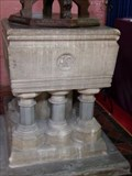 Image for Stone Font - St Catherin's Church - Pontypriddd, Wales, Great Britain.