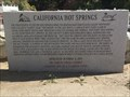 Image for California Hot Springs Marker - California Hot Springs, CA
