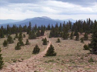 Looking back toward Baldy from the top of Mt. Phillips