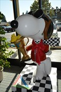 Image for Wood-Stockcar Racer Snoopy