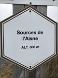 Image for 600 m. Signe d'altitude du lieu Sources de l'Aisne - Manhay - Belgique