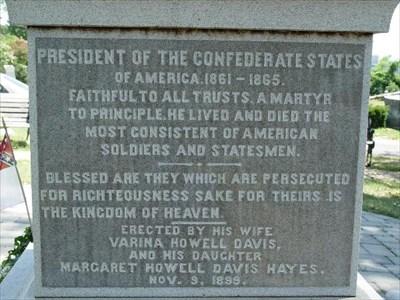 Inscription on the Grave Monument
