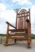 Image for The Star of Texas: Giant Rocking Chair - Lipan, TX
