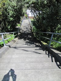 Aerial Way Stairs (East), Looking Down From Top, San Francisco, CA