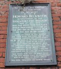 Image for Howard Beckwith Memorial Tablet - Stockport, UK
