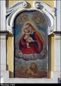 "Image for Fresco on House ""At the Golden Lion"" / Freska na dome ""U Zlatého lva"" - Pohorelec (Prague)"