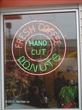 Image for Dippin Donuts 'Fresh Coffee - Hand Cut Donuts' Sign - Worcester, MA