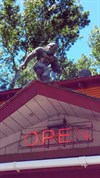 Bigfoot on top of the store!