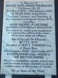 Image for James 1:22 - Randle John Baker Wilbraham Memorial - Scholar Green, Cheshire East, UK.