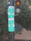 Cycling Routes 45 & 60 Sign, San Francisco, California