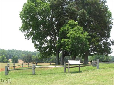 The arm of Stonewall Jackson lies in a quiet graveyard on a knoll.