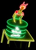 Image for The Wash Lady - Artistic Neon -  Route 66, Tucumcari, New Mexico, USA.