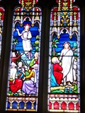 Image for Three Saints - Church of St Cattwg - Llanmaes, Vale of Glamorgan, Wales.[