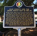 Image for Clay County and the Creek Indian War of 1813-14 - Ashland, AL