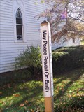 Image for North Lake United Methodist Church Peace Pole - Lyndon, Michigan