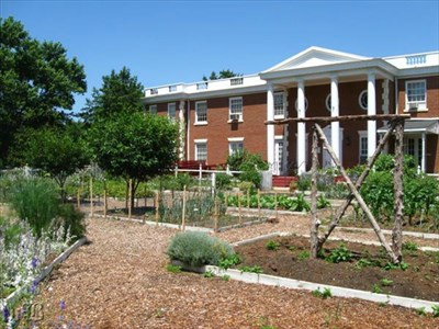 The garden is located directly behind the Ferry Farm Visitor Center.