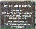 Image for Wetzlar Garden - Castle Park, Colchester, UK