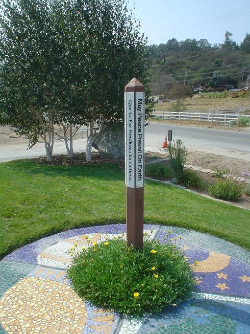 Peace Pole at CDF Fire Station, Aromas, Ca - Peace Poles on