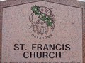 Image for St Francis Church - Historical Marker - Canute, Oklahoma, USA.