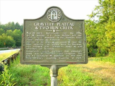 Historical marker north of Cassville