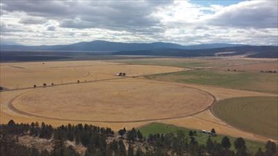 Great view of Pleasant Valley below