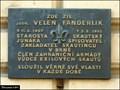 Image for Velen Fanderlik memorial tablet / Pametní deska Velena Fanderlika (Silingrovo námestí - Brno)