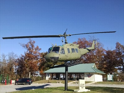 """Bell UH-1 """"Huey"""" at Holiday Island Veterans Memorial Park, by MountainWoods"""