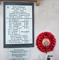Image for The Great War - Roll of Honour - St Mary's Church - Carew Cheriton, Pembrokeshire, Wales.