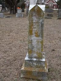 Grave of Allanson Dawdy, in Hutchins Memorial Cemetery, near here.
