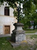Image for Christian Cross In Front Of The Church Of St. Wenceslas,  Stochov, Czechia