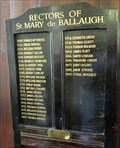 Image for Rectors of St. Mary's de Ballaugh - 1408 - 1997 - The Cronk, Isle of Man