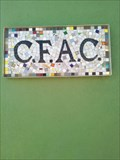 "Image for Community Fine Arts Center ""CFAC"" Mosaic Sign - Rock Springs WY"