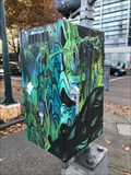 Image for Blue-Green Abstract Traffic Signal Box - Eugene, Oregon