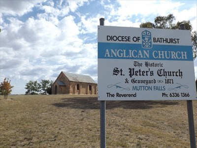 The Church and Graveyard sign, on Lowes Mount Rd.1616, Thursday, 8 February, 2018
