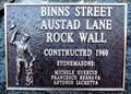 Image for Binns Street Austad Lane Rock Wall - 1960 - Trail, BC