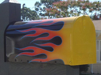 Flames Jacksonville Beach Fl Painted Mailboxes On