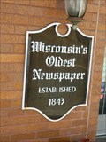 Image for OLDEST--Newspaper in Wisconsin -- Lancaster, Wisconsin