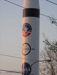 Les logos sur la fusée.