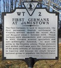 Image for First Germans At Jamestown ~ WT-2