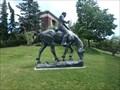 Image for Young Abe Lincoln on Horseback - Syracuse University, NY