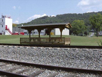 This is the view from the Ringgold Depot across the tracks.