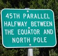 Image for 45th Parallel Highway Sign - U.S. 395 - Umatilla County, OR