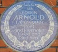 Image for Sir Edwin Arnold - Bolton Gardens, London, UK