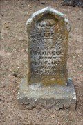 Image for OLDEST Dated Stone in Rockhill Cemetery - Franklin County, TX