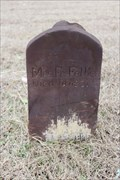 Image for Mrs. Fr. Felker - Hibbit Cemetery - Near Sturgeon, TX