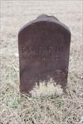 Image for Mrs. Fr. Felker - Hibbit Cemetery - Near Sturgeon, TX