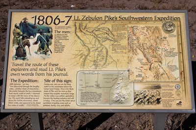 Mosca Colorado Map.Lt Zebulon Pike S Southwestern Expedition Mosca Co Colorado