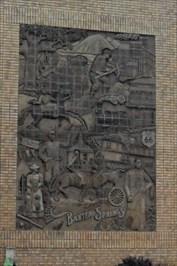 Baxter springs - Relief Sculpture - Kansas.