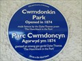 Image for Cwmdonkin Park - Blue Plaque - Swansea, Wales.